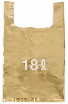 ゴールドのエコバッグ <br>1260円