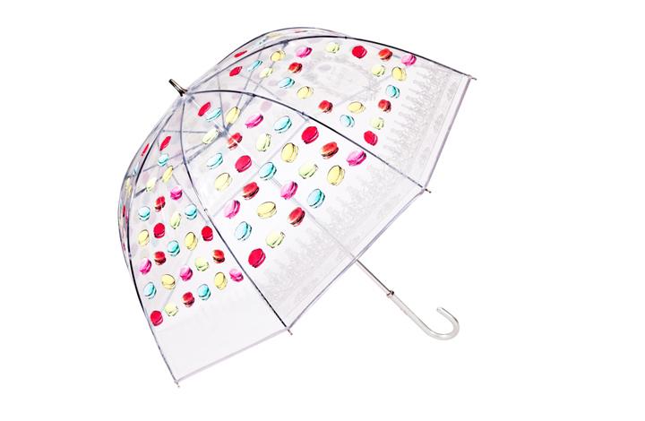 雨長傘(ビニール素材)『マカロン』silver 7,350円
