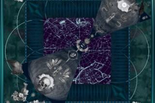 『Mineral Prayer』 90×90cm /  Silk100%