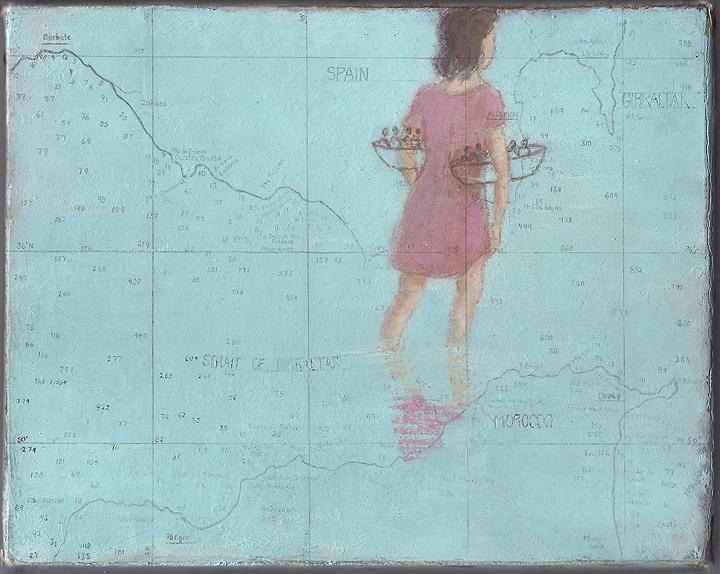 《無題(コヨーテ、2006-08 年、 「川に着く前に橋を渡るな」のための習作)》2006-08年 油彩、ろう画 / 木製パネルにカンヴァス