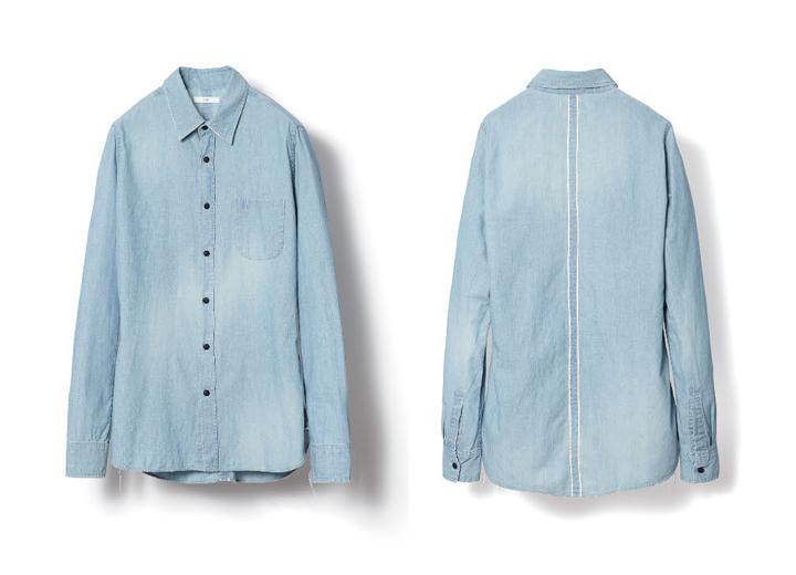 KUROのシャンブレーシャツ18,900円