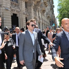 Milan, June 24-James Franco wearing GG black bamboo - all figure