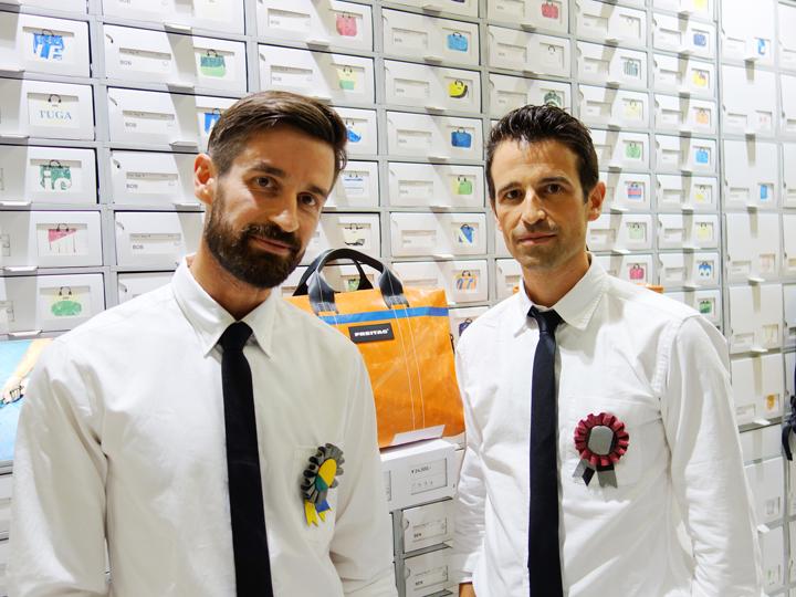 ダニエル・フライターグ(左)とマーカス・フライターグ(右)