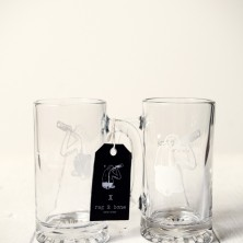 rag & bone x Brass Monkey-beer glass 1,575円