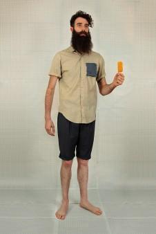 chemise carreaux poche