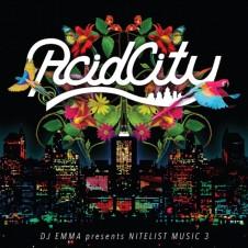 Various Artists『DJ EMMA presents NITELIST MUSIC 3: ACID CITY』(2013年) 日本を代表するハウスDJ、EMMAが未来のアシッド・ハウス・リヴァイヴァルを予見して、制作監修を務めた10年代日本発のアシッド・ハウス・コンピレーション。MALAWI ROCKSやKUNIYUKIら、第一線のクリエイターに混じって、Gonnoは音響的な仕掛けにハメこまれるスロウなアシッド・ハウス「SLOPPY ACID」を提供している。