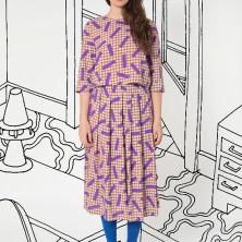 Crop Blouse in Big Kaya_ Long Skirt in Big Kaya