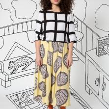 Crop Blouse in Gaza_Long Skirt in Nina