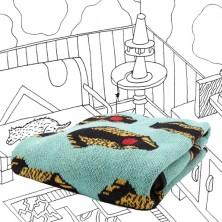 Knit Blanket in Mint Simy