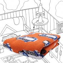Knit Blanket in Orange Simy.j