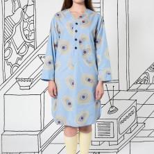 Pajama Gown in Blue Biba
