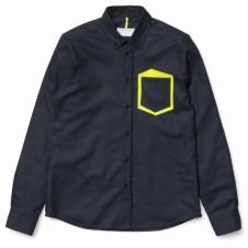 POCKET SHADOW SHIRT NAVY 46000円