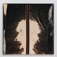 """Sterling Ruby, """"BC (4956)"""", 2014, fabric, glue and bleached canvas on panel, 213.4 x 213.4 x 5.1 cm (84 x 84 x 2 inches) © Sterling Ruby / Courtesy of Taka Ishii Gallery"""