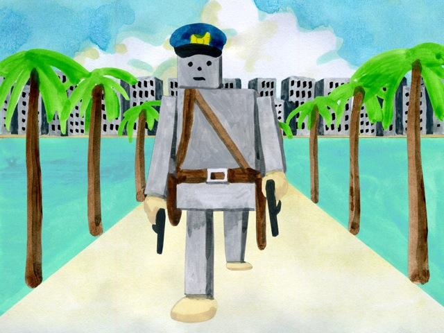 警察首振りやし-1
