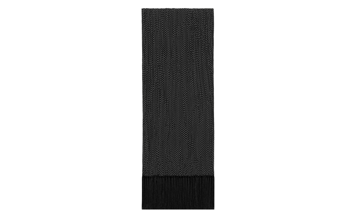 316300_4Y005_1000_A-ysl-saint-laurent-paris-men-pin-dot-pleated-scarf-in-black-and-ivory-silk