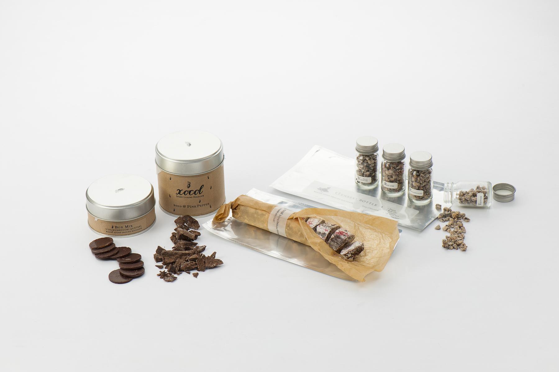 「xocol」(深沢) SALAME BOUQUET 1,250円(税込)、 美しい鳥 QUETZAL BOX MIX 2,130円(税込) など http://