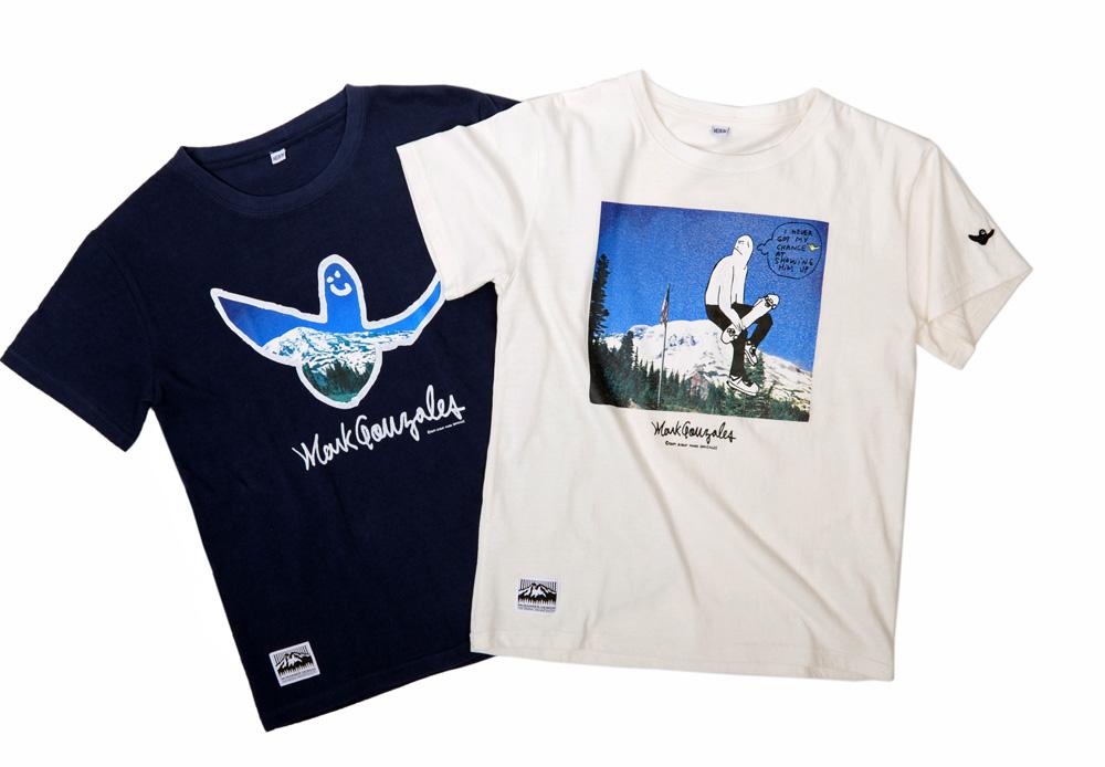 左から ANGEL T-SHIRTS 6,500円 + 税、SKATER T-SHIRTS 6,500円 + 税
