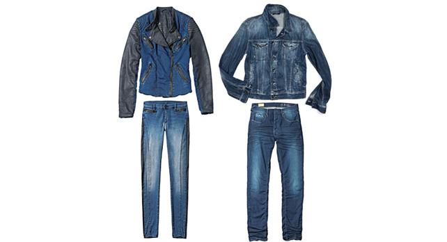 左上 Merida jacket 48,000円 + 税、左下 Sheryl skinny pants 日本未展開 右上 Oklahoma 28,000円 + 税、右下 Raul 32,000円 + 税