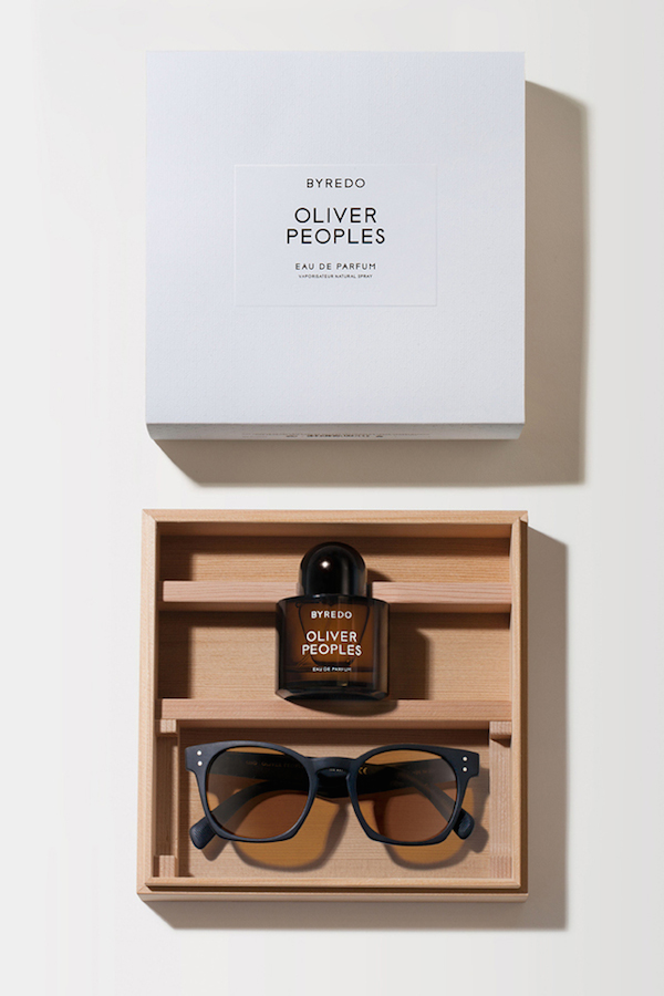 Products from the Oliver Peoples and Byredo collaboration.