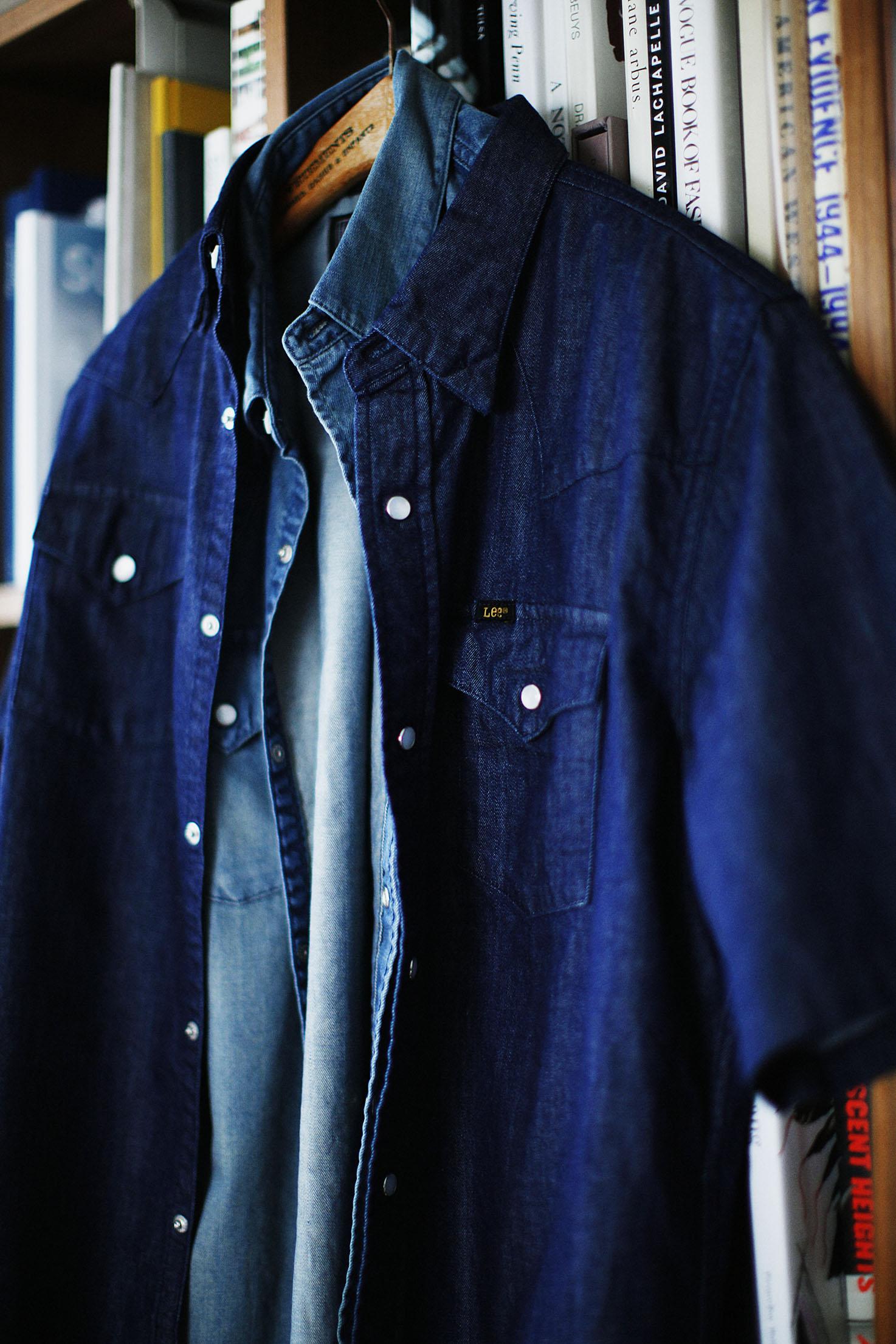 ウエスタンシャツ (LEE × BLUE WORK)ワンウォッシュ 11,000円 + 税、加工 12,000円 + 税