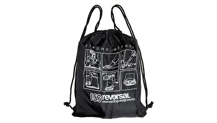"Drawstring bag ""KIMONO METHOD"" 1,500円+税"