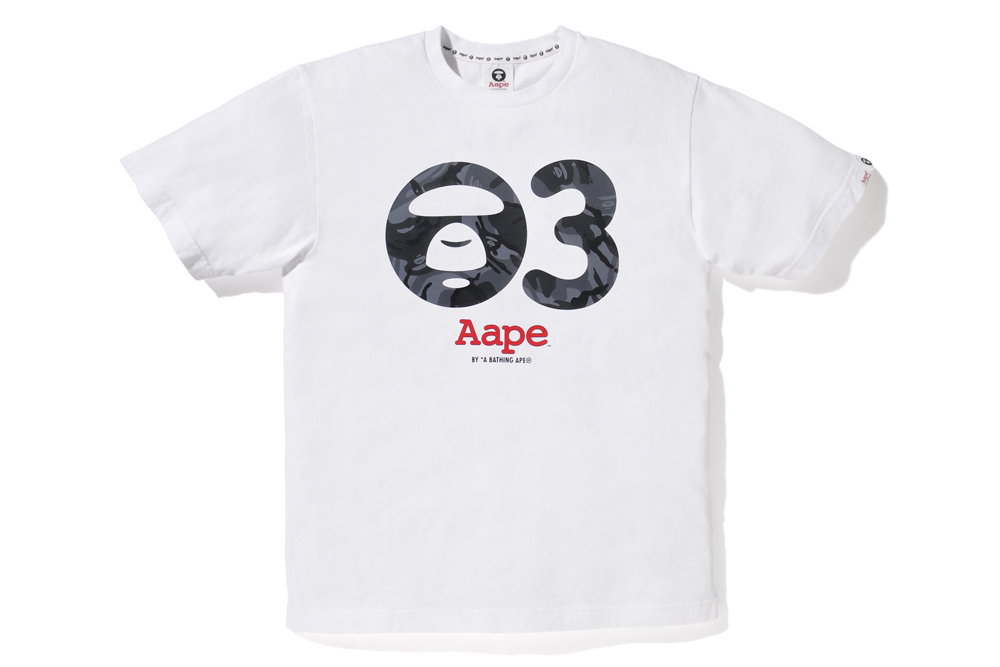 AAPE BY A BATHING APE® 3rd ANNIVERSARY T-SHIRT  COLOR: WHITE  6,600円 + 税