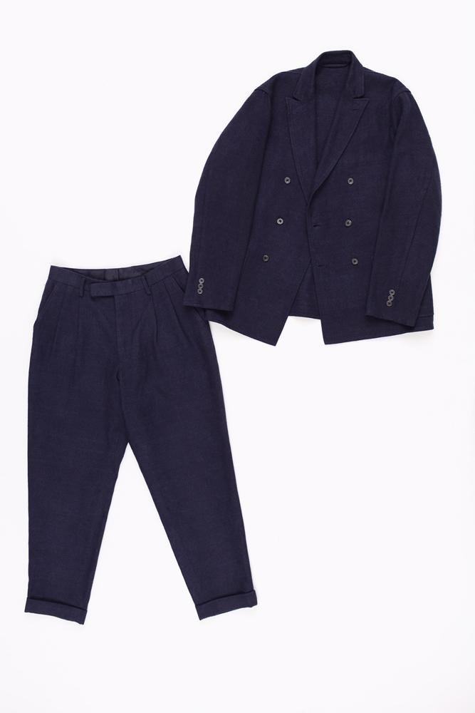 ジャケット 19,000円 + 税、 パンツ 12,000円 + 税