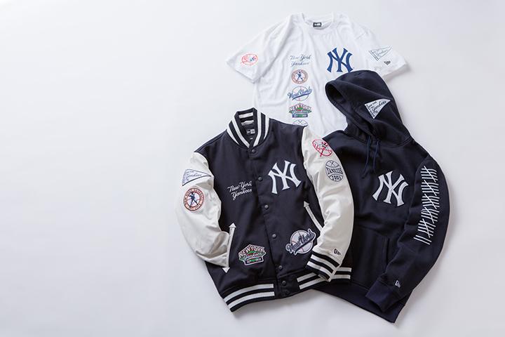 Stadium Jacket 52,000円+税、Sweat Pullover Hoodie 15,000円+税、Cotton Tee 5,800円+税
