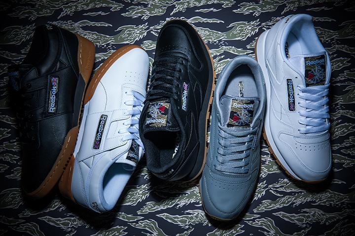 左2足/Workout Lo Clean TC 各9,800円+税 右3足/Classic Leather TC 9,800円+税