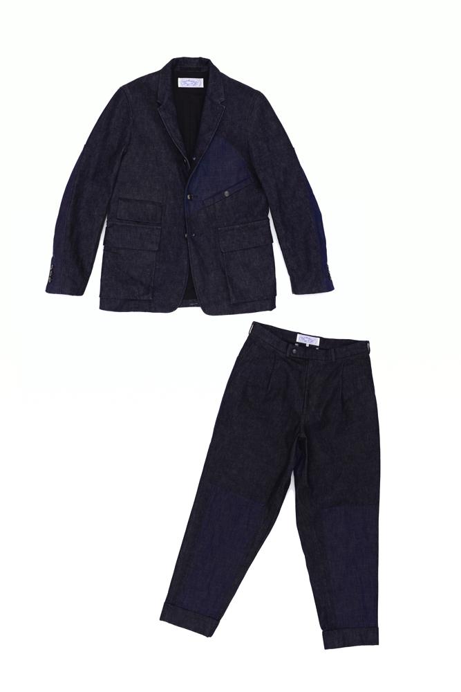 ジャケット 70,000円 + 税、パンツ 36,000円 + 税