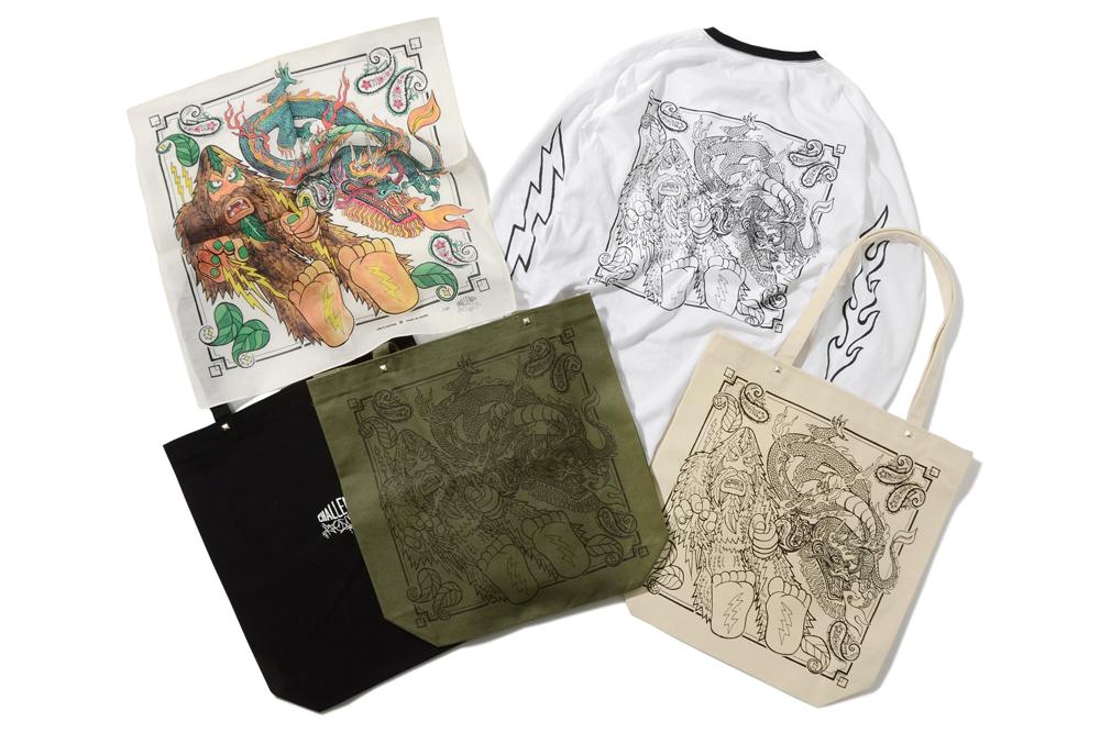 Tシャツ 7,900円、バンダナ 3,200円、トートバッグ 2,900円(全て税抜)
