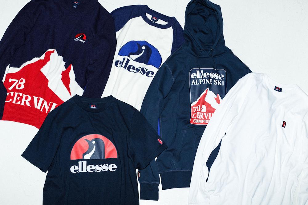 クルーセーター 18,000円、Tシャツ 4,500円、スウェットパーカ 13,000円(すべて税抜き価格)