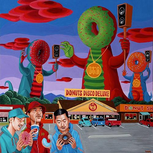 Donuts Disco Deluxe『Mix CD #3D-005』 Donuts Disco DeluxeのミックスCD最新作。インパクト大なジャケットのアートワークは青山トキオによるもの。ライヴ会場の他、AFRAプロデュースのオンライン商店「Always Fresh」でも販売中。