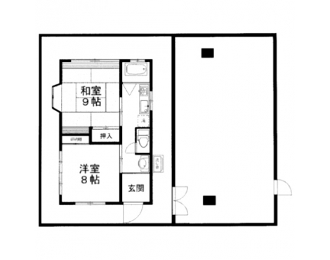 目の前の屋上スペースは共用部分。