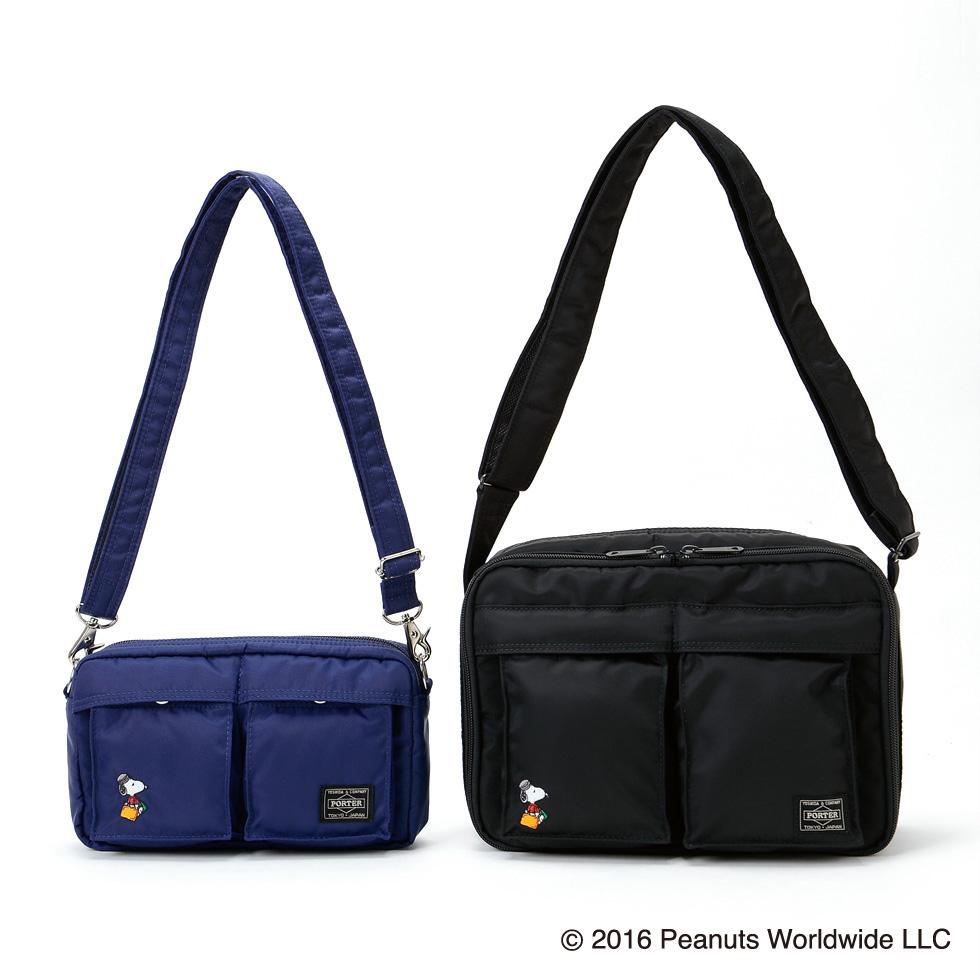 SHOULDER BAG(S)NAVY:¥22,000円 + 税、BLACK (M):28,000円 + 税