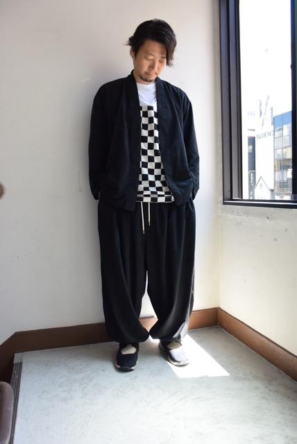 URTRA SUEDE ORIENTAL SHIRTS 42,000円 + 税 BALLOON PANTS  37,000円 + 税 FLAGCHECK TEESHIRTS 16,000円 + 税 全て[Sasquatchfabrix.]