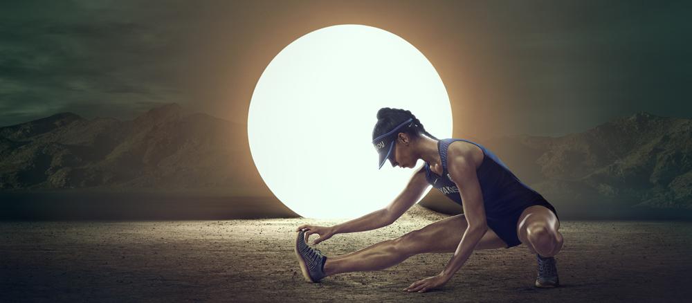 NikeLab Gyakusou ウィメンズ DRI-FIT ディスタンス シングレット 8,100円、NikeLab Gyakusou ウィメンズ DRI-FIT ディスタンス ショート 12,960円、NikeLab フリー ラン フライニット×Gyakusou 17,280円(全て税込価格)