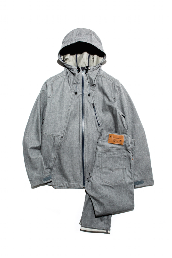 ジャケット 89,000円 + 税(80着限定) デニムパンツ 37,000円 + 税(100本限定) →商品の詳細を見る