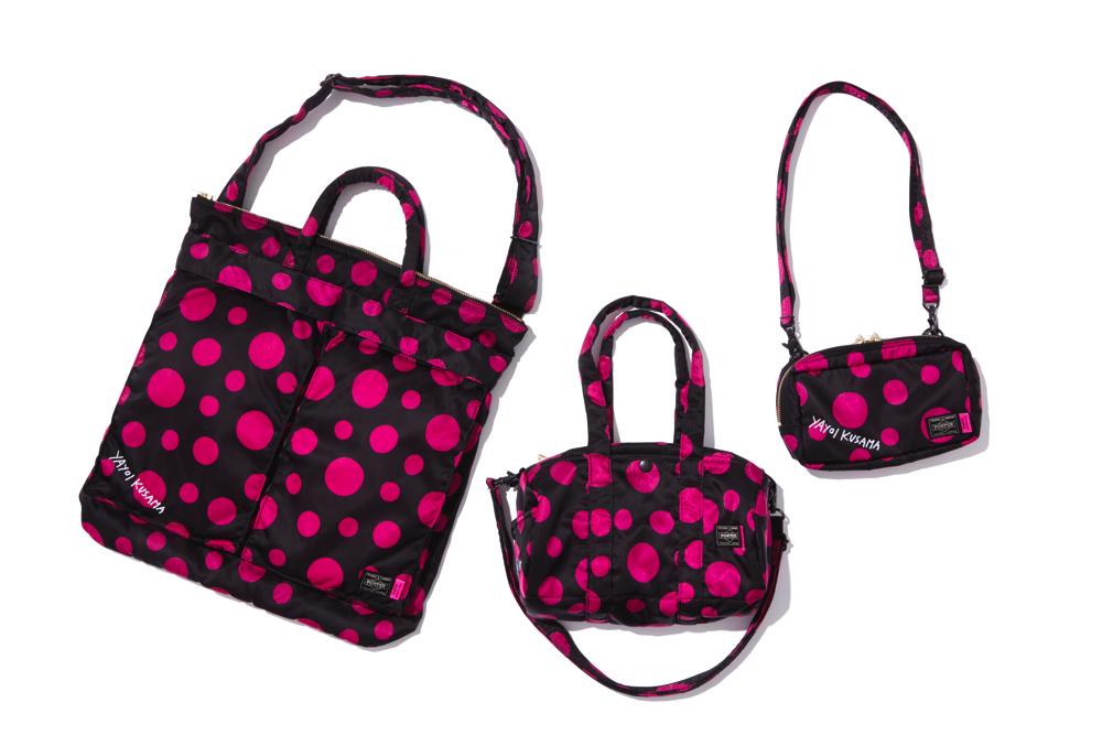 2WAY HELMET BAG PRICE 36,000円 + 税、2WAY BOSTON BAG PRICE 24,000円 + 税、2WAY POUCH 13,000円 + 税