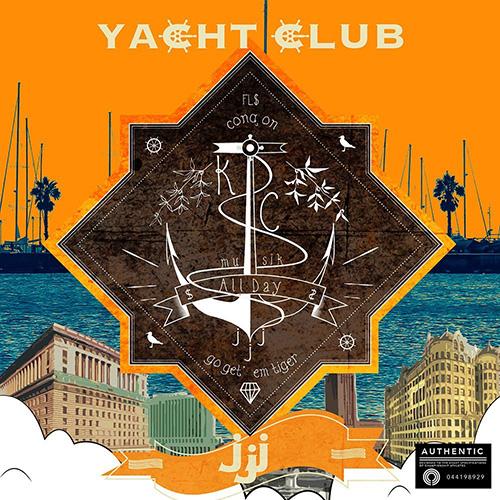 JJJ『YACHT CLUB』 全17曲のプロデュースとラップを一手に手掛けた2014年のファースト・ソロ作。Fla$hBackSの2人に加え、RIP SLYMEのSU、ACO、MONJU、Kiano Jonesらをフィーチャー。歪んだ音像の濃密なプロダクションと硬質なラップが展開されている。