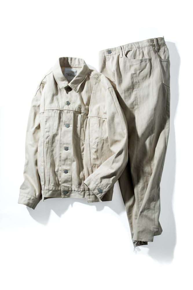 ジャケット 35,000円、パンツ 27,000円(ともに税抜価格)