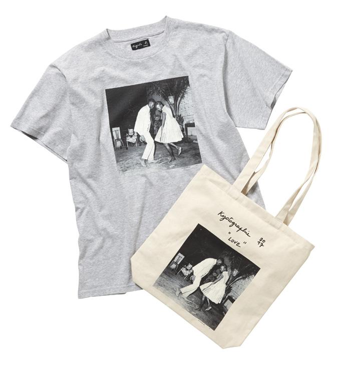 Tシャツ:10,000 円 + 税、トートバッグ:7,000円 + 税