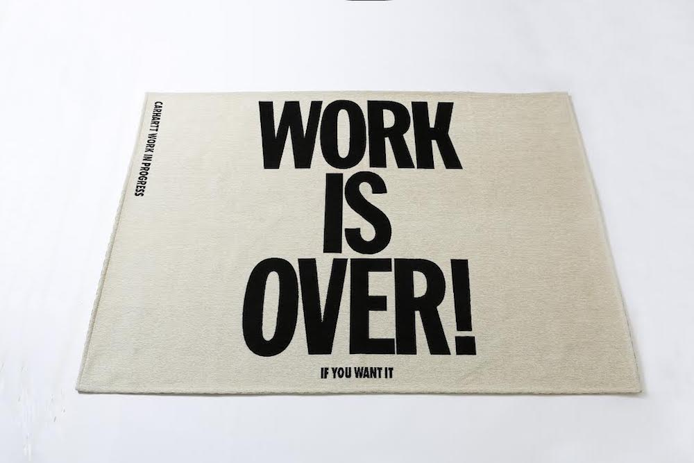 WORK IS OVER RUG 26,000円 + 税